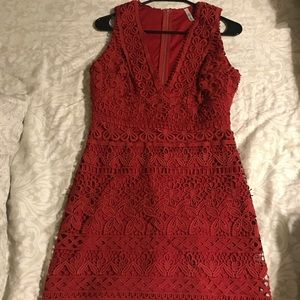 Brand new red lace dress!